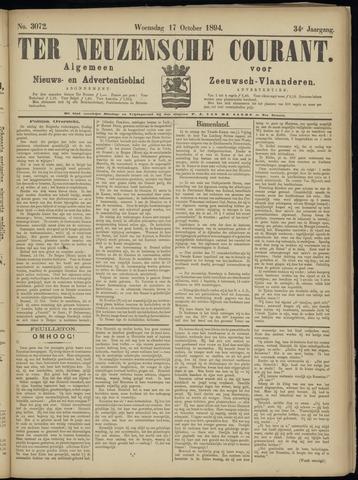 Ter Neuzensche Courant. Algemeen Nieuws- en Advertentieblad voor Zeeuwsch-Vlaanderen / Neuzensche Courant ... (idem) / (Algemeen) nieuws en advertentieblad voor Zeeuwsch-Vlaanderen 1894-10-17