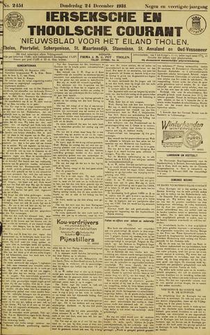 Ierseksche en Thoolsche Courant 1931-12-24