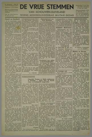 Vrije Stemmen van Schouwen-Duiveland, tevens mededeelingenblad Militair Gezag 1945-07-19