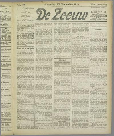 De Zeeuw. Christelijk-historisch nieuwsblad voor Zeeland 1918-11-23