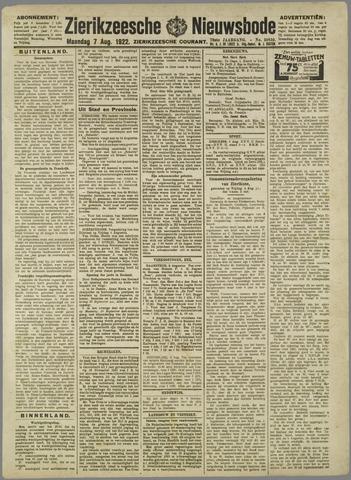 Zierikzeesche Nieuwsbode 1922-08-07
