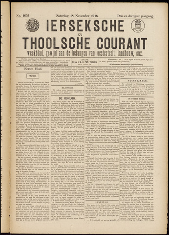 Ierseksche en Thoolsche Courant 1916-11-18