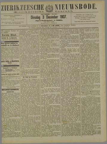 Zierikzeesche Nieuwsbode 1907-12-03