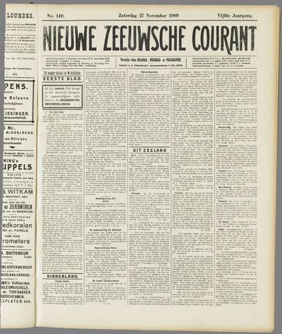 Nieuwe Zeeuwsche Courant 1909-11-27