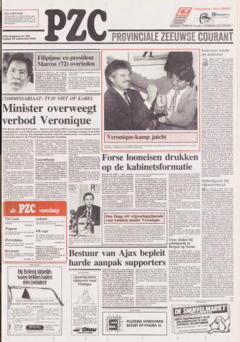 Provinciale Zeeuwse Courant 1989-09-29