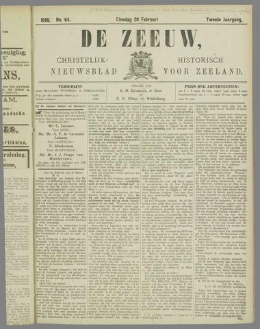 De Zeeuw. Christelijk-historisch nieuwsblad voor Zeeland 1888-02-28