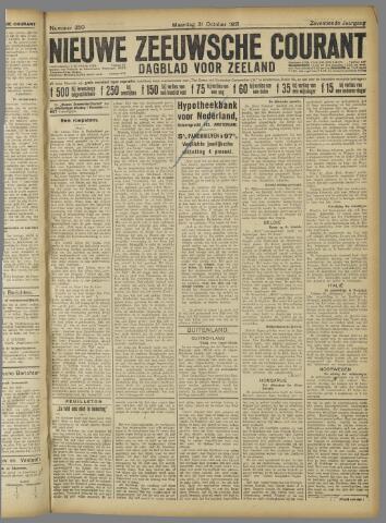 Nieuwe Zeeuwsche Courant 1921-10-31