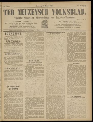 Ter Neuzensch Volksblad. Vrijzinnig nieuws- en advertentieblad voor Zeeuwsch- Vlaanderen / Zeeuwsch Nieuwsblad. Nieuws- en advertentieblad voor Zeeland 1915-03-20