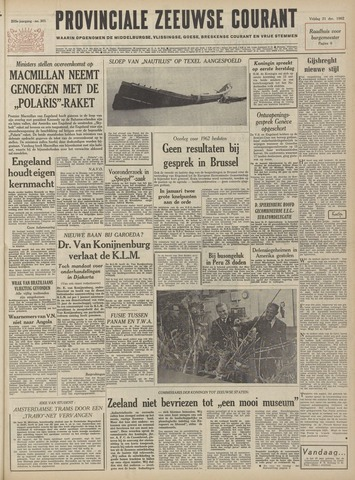Provinciale Zeeuwse Courant 1962-12-21