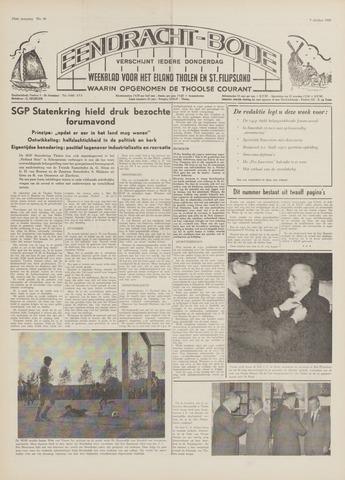 Eendrachtbode (1945-heden)/Mededeelingenblad voor het eiland Tholen (1944/45) 1969-10-09