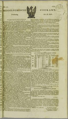Middelburgsche Courant 1825-04-28