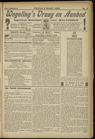 Zeeuwsch Nieuwsblad/Wegeling's Nieuwsblad 1925-03-06