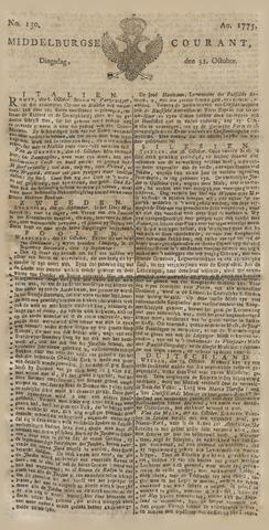 Middelburgsche Courant 1775-10-31