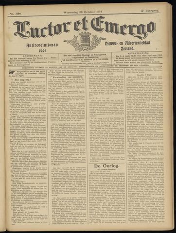 Luctor et Emergo. Antirevolutionair nieuws- en advertentieblad voor Zeeland / Zeeuwsch-Vlaanderen. Orgaan ter verspreiding van de christelijke beginselen in Zeeuwsch-Vlaanderen 1914-10-28