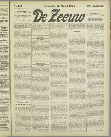De Zeeuw. Christelijk-historisch nieuwsblad voor Zeeland 1924-03-19