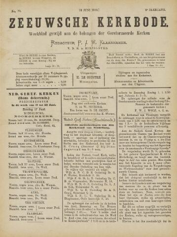 Zeeuwsche kerkbode, weekblad gewijd aan de belangen der gereformeerde kerken/ Zeeuwsch kerkblad 1888-06-16