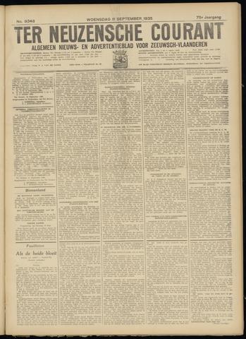 Ter Neuzensche Courant. Algemeen Nieuws- en Advertentieblad voor Zeeuwsch-Vlaanderen / Neuzensche Courant ... (idem) / (Algemeen) nieuws en advertentieblad voor Zeeuwsch-Vlaanderen 1935-09-11