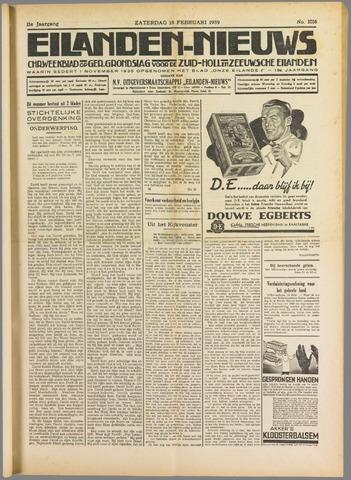 Eilanden-nieuws. Christelijk streekblad op gereformeerde grondslag 1939-02-18