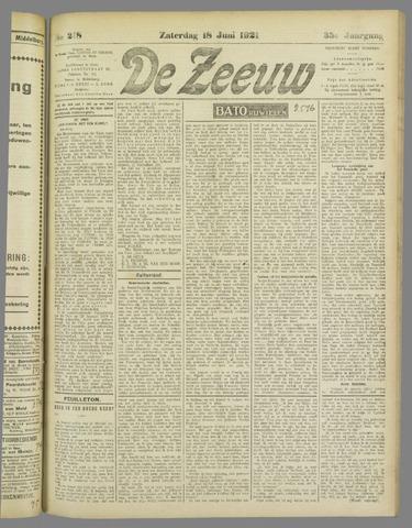 De Zeeuw. Christelijk-historisch nieuwsblad voor Zeeland 1921-06-18