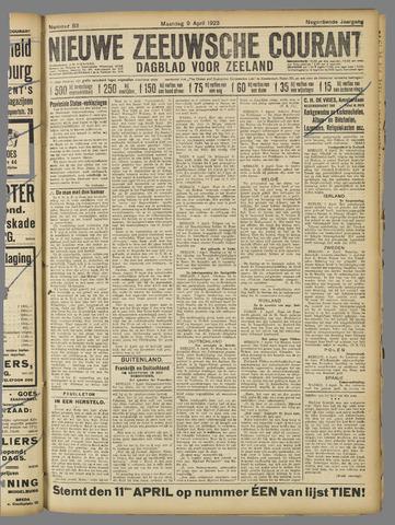 Nieuwe Zeeuwsche Courant 1923-04-09