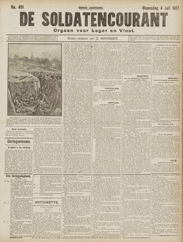 De Soldatencourant. Orgaan voor Leger en Vloot 1917-07-04