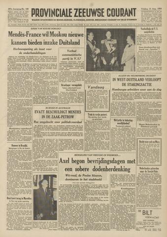 Provinciale Zeeuwse Courant 1954-08-13
