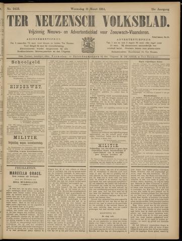 Ter Neuzensch Volksblad. Vrijzinnig nieuws- en advertentieblad voor Zeeuwsch- Vlaanderen / Zeeuwsch Nieuwsblad. Nieuws- en advertentieblad voor Zeeland 1914-03-11