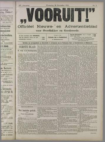 """""""Vooruit!""""Officieel Nieuws- en Advertentieblad voor Overflakkee en Goedereede 1911-12-20"""