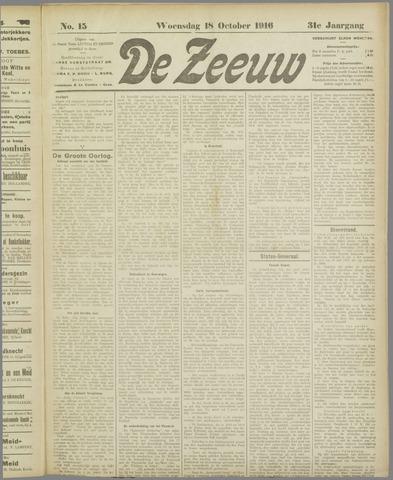 De Zeeuw. Christelijk-historisch nieuwsblad voor Zeeland 1916-10-18