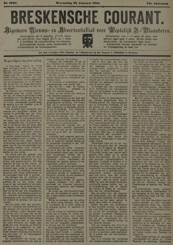 Breskensche Courant 1915-01-20