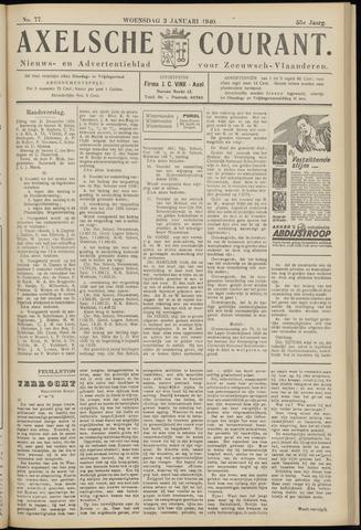 Axelsche Courant 1940-01-03