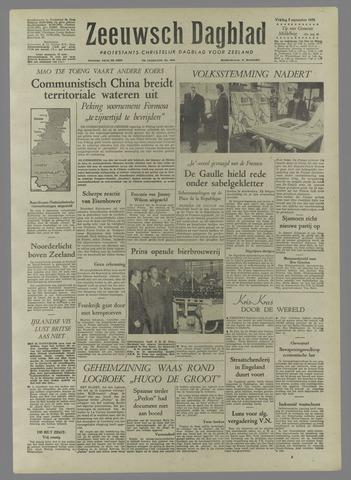Zeeuwsch Dagblad 1958-09-05
