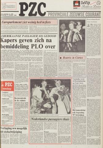 Provinciale Zeeuwse Courant 1985-10-10