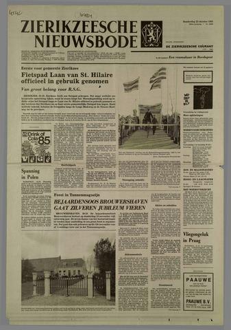 Zierikzeesche Nieuwsbode 1981-10-22