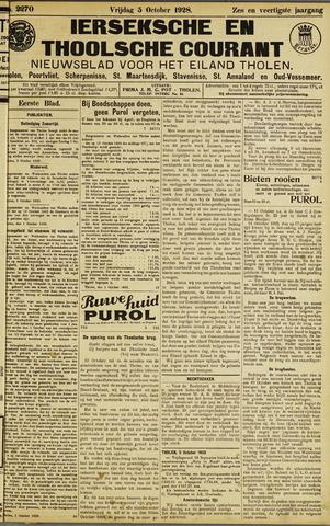 Ierseksche en Thoolsche Courant 1928-10-05