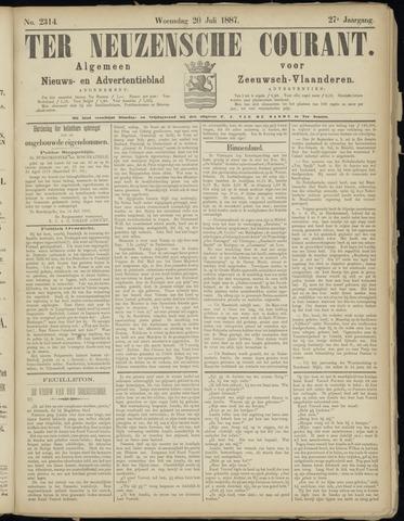 Ter Neuzensche Courant. Algemeen Nieuws- en Advertentieblad voor Zeeuwsch-Vlaanderen / Neuzensche Courant ... (idem) / (Algemeen) nieuws en advertentieblad voor Zeeuwsch-Vlaanderen 1887-07-20