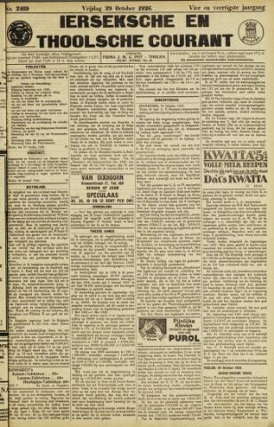 Ierseksche en Thoolsche Courant 1926-10-29