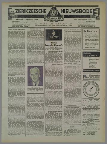 Zierikzeesche Nieuwsbode 1940-01-12