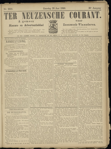 Ter Neuzensche Courant. Algemeen Nieuws- en Advertentieblad voor Zeeuwsch-Vlaanderen / Neuzensche Courant ... (idem) / (Algemeen) nieuws en advertentieblad voor Zeeuwsch-Vlaanderen 1890-06-28