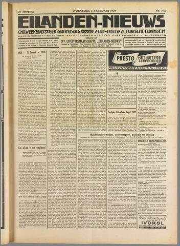 Eilanden-nieuws. Christelijk streekblad op gereformeerde grondslag 1939-02-01