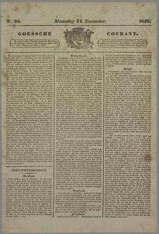 Goessche Courant 1845-11-24