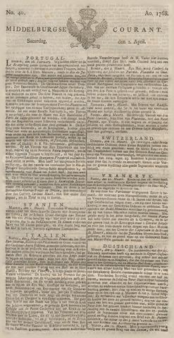 Middelburgsche Courant 1768-04-02