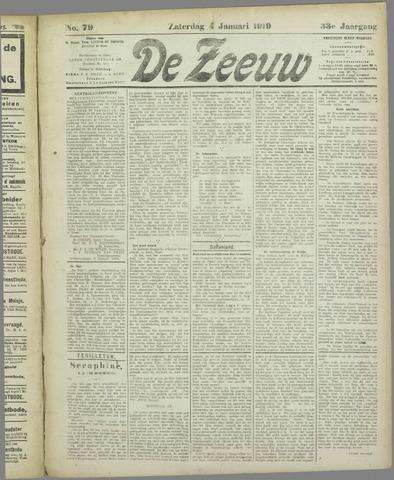 De Zeeuw. Christelijk-historisch nieuwsblad voor Zeeland 1919-01-04
