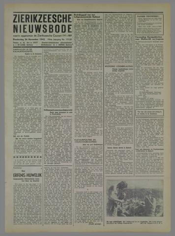 Zierikzeesche Nieuwsbode 1942-11-26