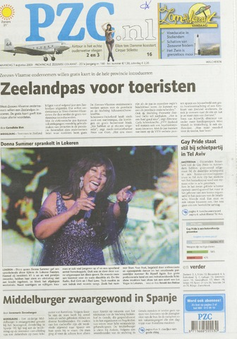 Provinciale Zeeuwse Courant 2009-08-03