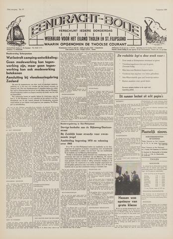 Eendrachtbode (1945-heden)/Mededeelingenblad voor het eiland Tholen (1944/45) 1969-08-07