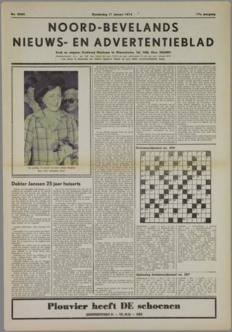 Noord-Bevelands Nieuws- en advertentieblad 1974-01-17