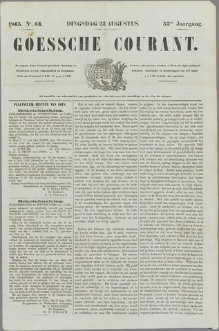 Goessche Courant 1865-08-22