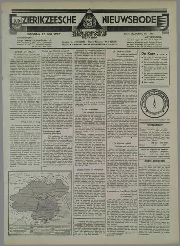 Zierikzeesche Nieuwsbode 1937-07-27