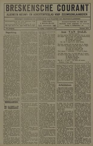 Breskensche Courant 1924-09-03